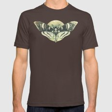 Moth And Moon Mens Fitted Tee Brown SMALL