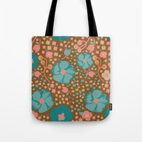 Town Square Floral Tote Bag