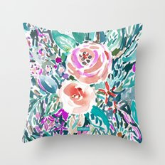 TROPICAL TREK FLORAL PRINT Throw Pillow