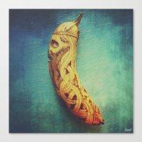 Viking Skull Banana Canvas Print
