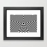 Stars - Black & White Ve… Framed Art Print
