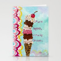 Ice Cream Happiness Stationery Cards