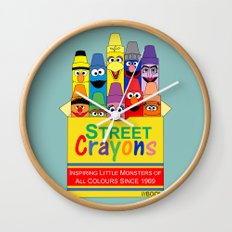 Color Me Sesame Wall Clock