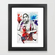 Gray Ana Framed Art Print