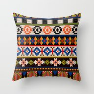 Colourful Tribal Aztec P… Throw Pillow