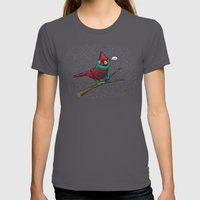 Annoyed IL Birds: The Ca… Womens Fitted Tee Asphalt SMALL