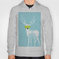 Blue Deer With Sunglasse… Hoody