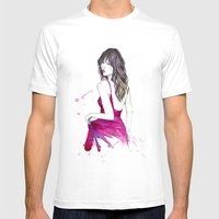 Don't Look Now Mens Fitted Tee White SMALL