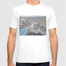 Perspective  White Mens Fitted Tee SMALL