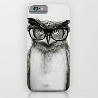 owls iPhone & iPod Cases featuring Mr. Owl by Isaiah K. Stephens