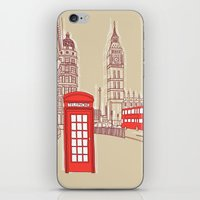 City Life // London Red Telephone Box iPhone & iPod Skin