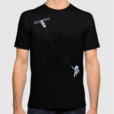 Satellite Kite SMALL Mens Fitted Tee Black