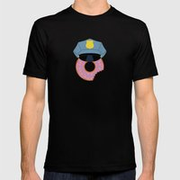 Officer Donut Mens Fitted Tee Black SMALL