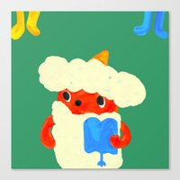 Baby demon (Japanese baby demon) Canvas Print