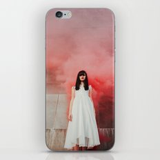 Red smoke iPhone & iPod Skin