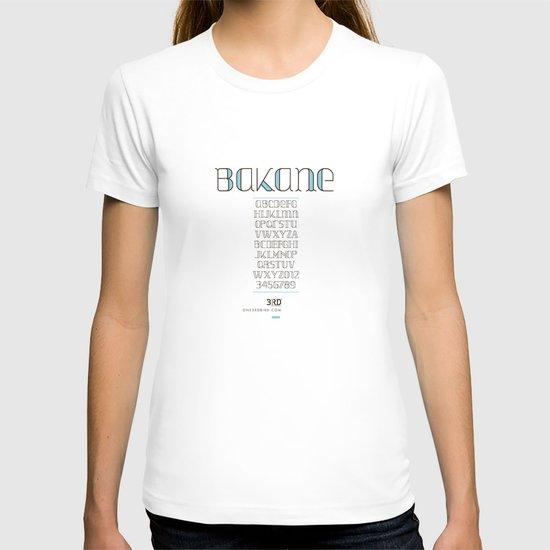 BAKANE FONT T-shirt