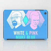 WHITE & PINK MAKE BLUE iPad Case
