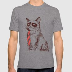 OH NO! Monday Again! Mens Fitted Tee Tri-Grey SMALL