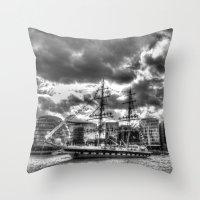 Stavros N Niarchos Ship  London Throw Pillow