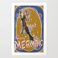 The Amazing MERMAID Art Print