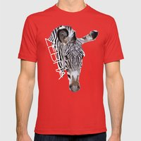 Zebra head Mens Fitted Tee Red SMALL