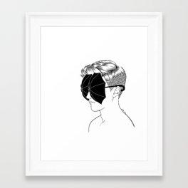 Framed Art Print - It's raining inside - Henn Kim