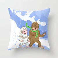 Snow Day! Throw Pillow