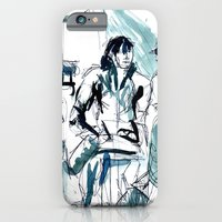 iPhone & iPod Case featuring my Friend june by seb mcnulty