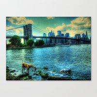 New York Brooklyn Bridge Canvas Print