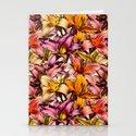 Daylily Drama - a floral illustration pattern Stationery Cards