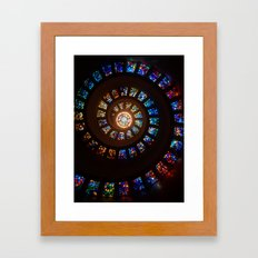 Stained Glass Swirl Framed Art Print