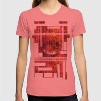 Texture Womens Fitted Tee Pomegranate SMALL