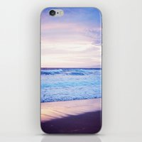 Purple Sunset over Hermosa Beach, Los Angeles  iPhone & iPod Skin