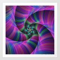 Spiral tentacles Art Print