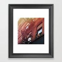 Man In Window - New York… Framed Art Print
