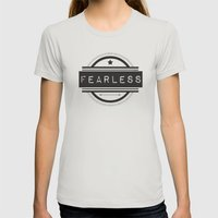 #Fearless Womens Fitted Tee Silver SMALL
