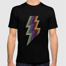 80's lightning SMALL Mens Fitted Tee Black