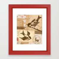 Bird Collage  Framed Art Print