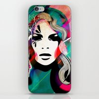 colorful hair iPhone & iPod Skin