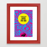 Enter the Void Framed Art Print