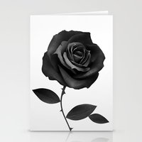 Fabric Rose Stationery Cards