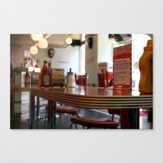 American Diner in London Canvas Print