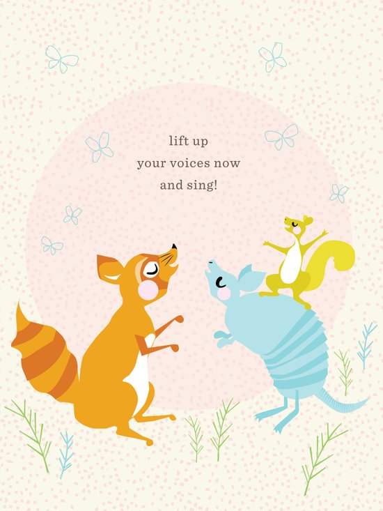Raccoon & Armadillo Singing Art Print
