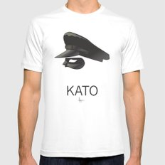 KATO White Mens Fitted Tee SMALL