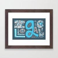 Illogical Framed Art Print