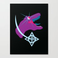 T-Rex Burst Canvas Print