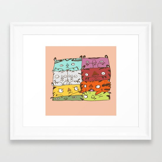 Tiger Kuubs Framed Art Print