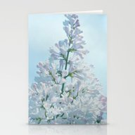 COOL BLUE LILAC Stationery Cards