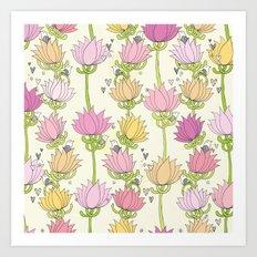 Lotsa Lotus Love Art Print