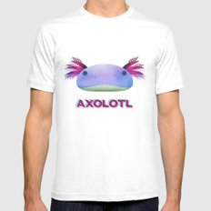 Axolotl Friend Mens Fitted Tee White SMALL